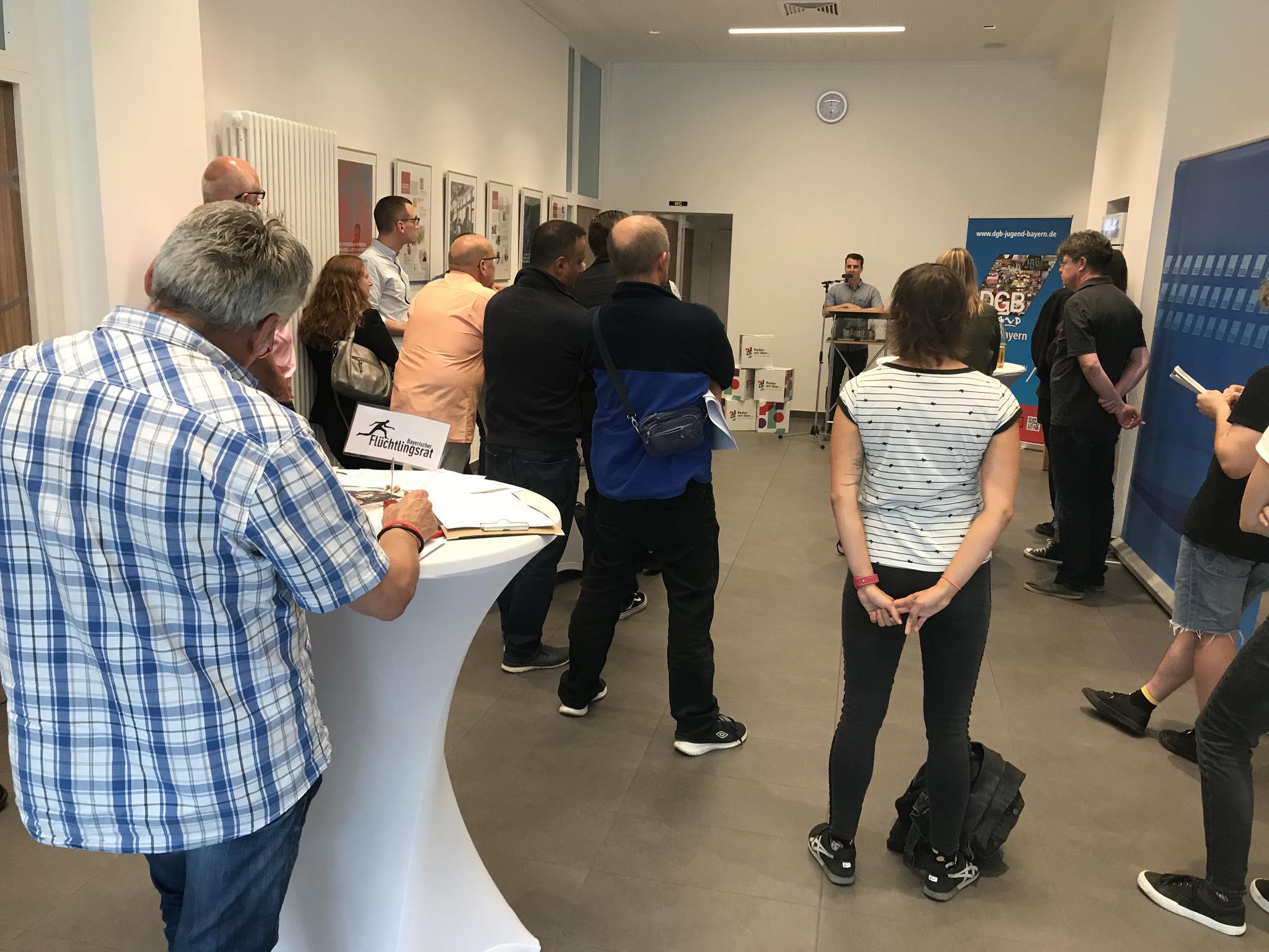Eröffnung der Ausstellung im Gewerkschaftshaus