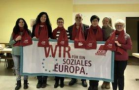 Die DGB Frauen in Cham positionieren sich für ein soziales Europa.