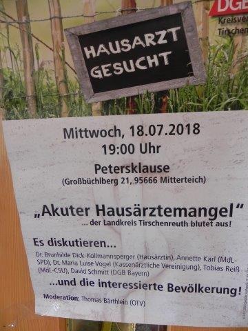 "Flyer ""Akuter Hausärtzemangel"""