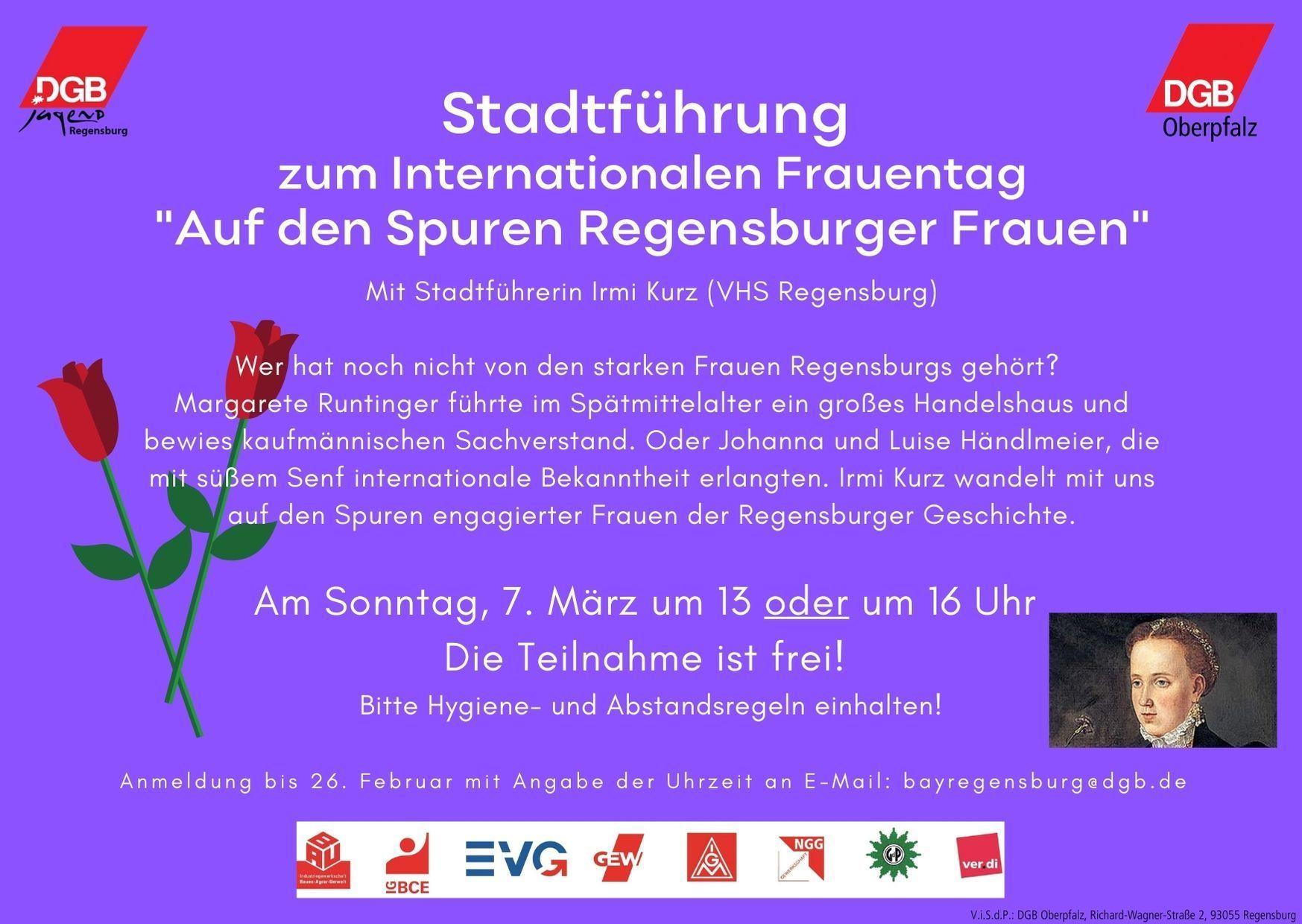 Stadtführung zum Internationalen Frauentag 2021