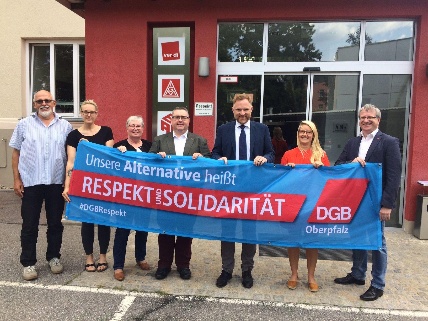 Gewerkschafter mit Peter Aumer, CSU