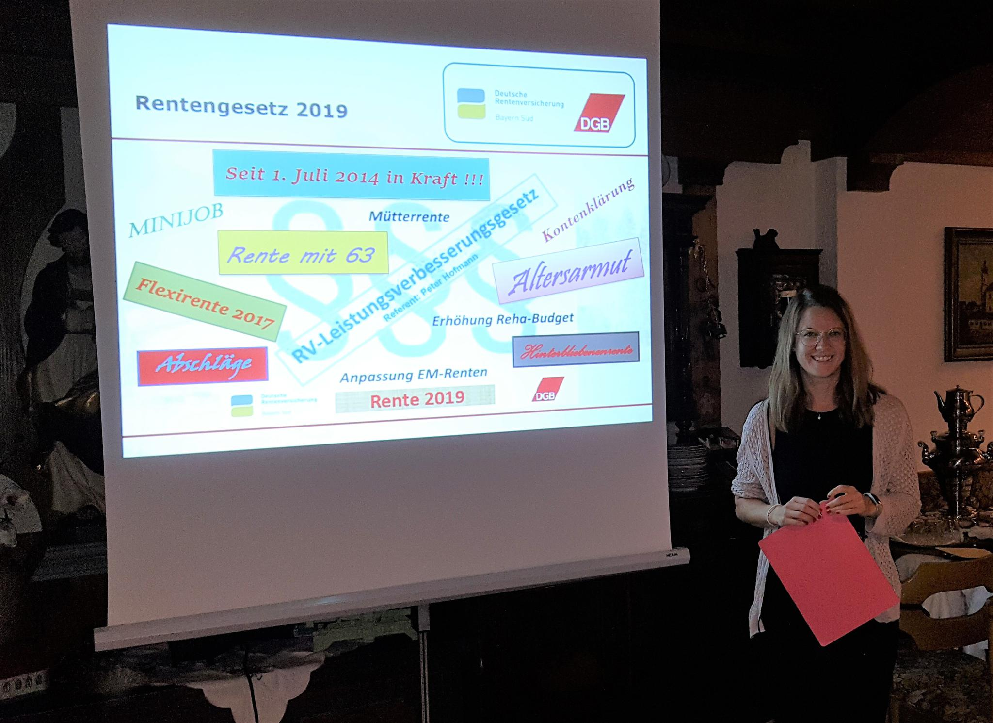 DGB Regionssekretärin Katja Ertl