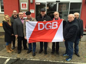 Die Vorsitzenden der Kreis- und Stadtverbände mit dem hauptamtlichen Team des DGB Oberpfalz.