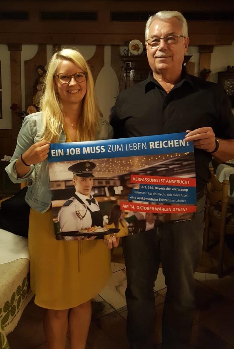 Regionssekretärin Katja Ertl und OK-Vorsitzender Herbert Breu