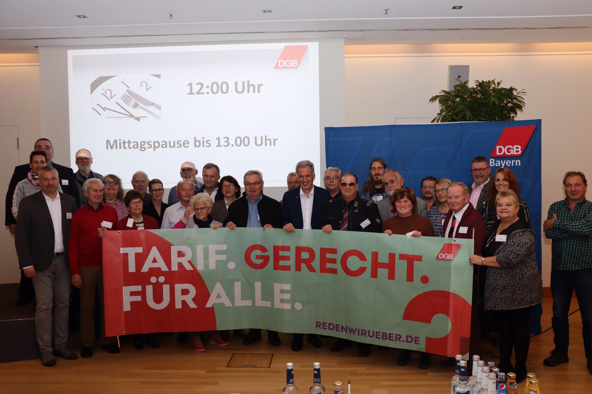 Die Ehrenamtlichen aus der Oberpfalz auf der Ehrenamtskonferenz des DGB Bayern in Nürnberg.