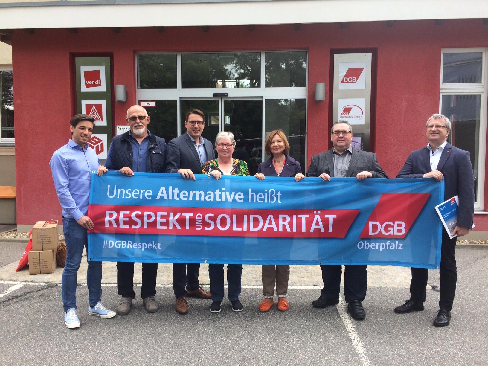 DGB und SPD für mehr Respekt und Solidarität