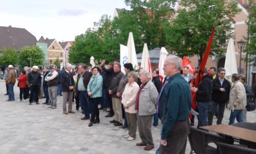 Kundgebung in Burglengenfeld