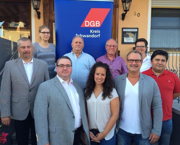 Vorstandschaft DGB KV Schwandorf