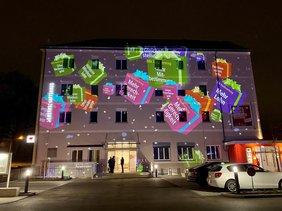Pressekonferenz und Licht-Installation des DGB Kreisverbands Regensburg